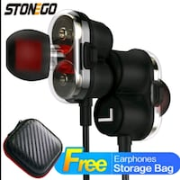 StoneGo Dual Driver Hi-Fi Earbuds Great Mills, 20634