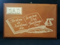 """1977 HMZ Fathers Day Giftable Plaque    Approx  6"""" Edmonton, T5G 2A4"""