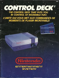 NES Control Deck Manual Vintage Nintendo Entertainment System Collectable Pick-up in Newmarket (ref # manuals1) Newmarket