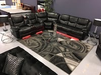 Bella All Power Reclining Sectional Sofa 7 Color Changing LED's($40 Down To Finance) Charlotte, 28216