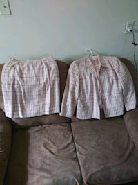 two gray and white plaid dress shirts Woodbridge, 22193
