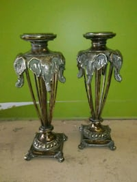 Two elephant design candle holders Andover, 67002