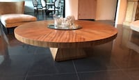 round brown wooden pedestal table Palm Springs, 92262