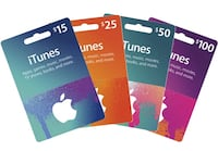 iTunes  Google Play Gift Card