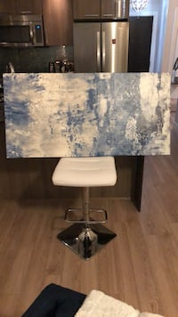 Wall Art - Blue and white abstract print Langley, V2Y 1P3