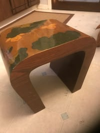 """Vintage solid wood stool/Bench, 14"""" Tall x 16"""" across top Colorado Springs, 80907"""