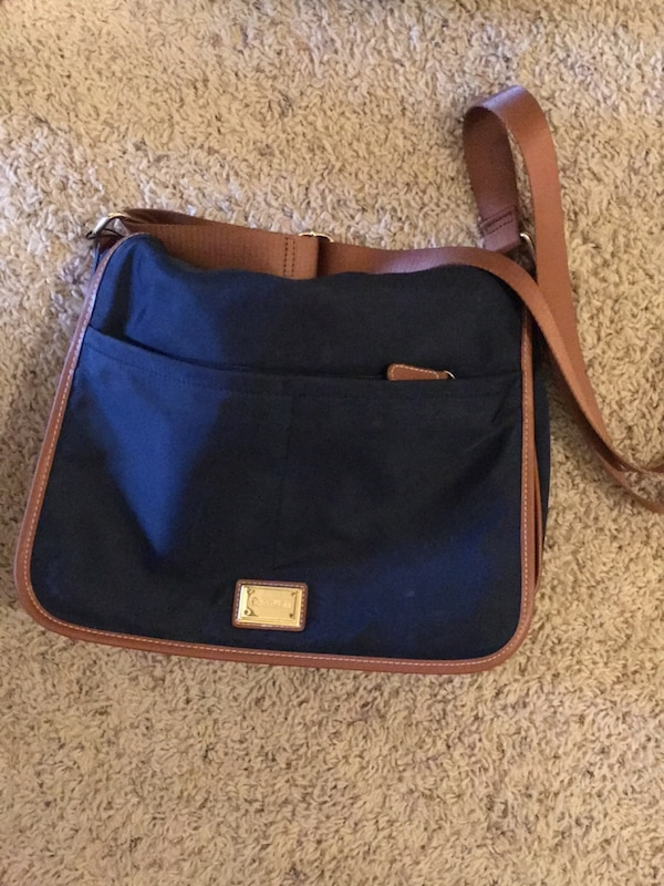 black and brown leather crossbody bag