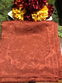 """Fall oblong table cloth with fall leaves 112"""" long and 54"""" wide Mooresville, 28117"""