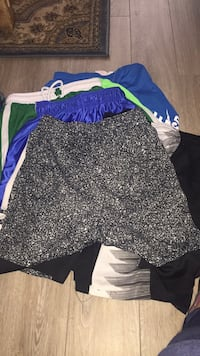 9 large pairs of gym shorts 8 pairs med 7 small  Bellair, 32073