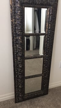 black metal framed wall mirror Grimsby, L3M