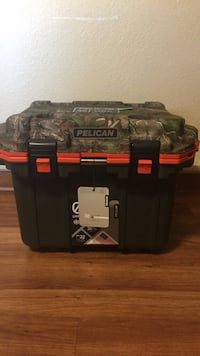 Cooler: Pelican 30 Black/Orange/Camo. Make your offer