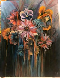 blue, yellow, and red floral painting  Ramsey, 55303
