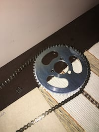 Pocket bike sprocket and chain 55t 25h