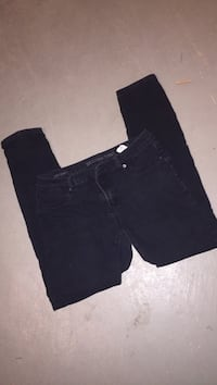 black denim straight-cut jeans Windsor, N8S 3X8