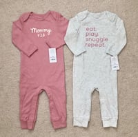 2 Carters baby girl one piece jumpsuits size 12 months Mississauga, L5M 0H2