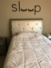 white tufted bed frame with mattress New York, 10017