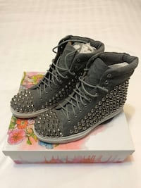 Jeffrey Campbell Alva Studded High Top Sneakers
