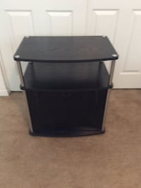 black and gray 3-layer TV stand Stockton, 95219