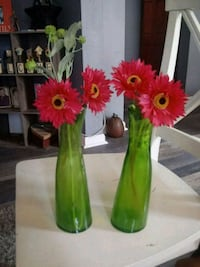 Artificial flowers in 2 plastic green vases Sparrows Point, 21219