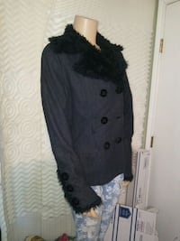 black and gray button-up jacket Universal City, 78148
