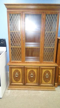 brown wooden framed glass display cabinet High Point, 27262
