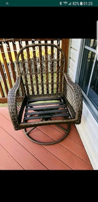 black and brown wicker chair Montclair, 22025