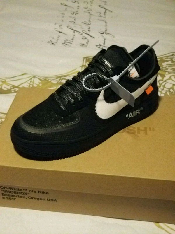 80a81254bf Used Off white Air force 1 low black for sale in Frisco - letgo