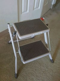 New White and Gray Folding Chair Sterling