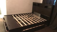 black and white wooden bed frame Los Angeles, 90027