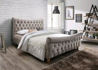 NEW! King Tufted Bedframe Silver Spring