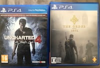 Uncharted4 and The order Ps4 Games with Delivery Mississauga, L5V 1S6