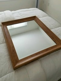 "Mirror with Wooden Frame (27.5"" x 33.5"") Milton"