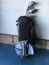 Kids golf clubs and bag Chantilly, 20151