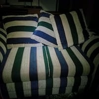 white and blue striped bed sheet 59 km