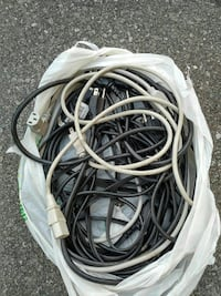 $5 each white and black monitor power wires cables Toronto, M9W 2A3