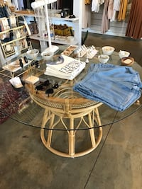 Vintage bamboo table Costa Mesa, 92626