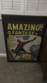 Amazing Fantasy Spider-Man poster and black wooden frame Yuma, 85365