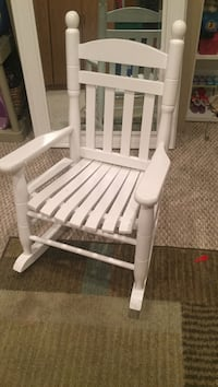 white wooden rocking chair with white pad South Plainfield, 07080