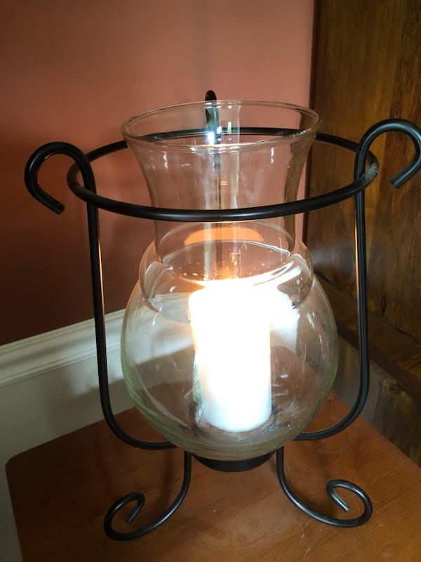 Larger Centerpiece Candle Holder  / Metal and Glass Vase Insert baf6181e-e361-4520-8c8e-37ebae918e1f