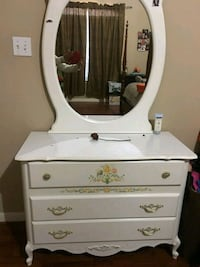 white wooden dresser with mirror Spring, 77379