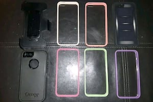 I phone 5 s cases new one otter BOX with belt clip 7