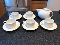 White Porcelain Tea Set, EUC Toronto, M6J