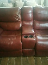 brown leather 2-seat recliner Harris County, 31808