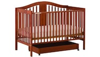 Chelsea 4 in 1 crib with sealy cozy mattress 26 mi