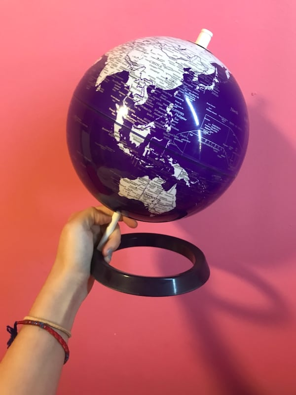 Pretty purple world globe 1bc8d8d0-d8a9-4819-bfeb-03055b7bd876