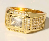 18K Gold Plated Ring for Men San Diego, 92105