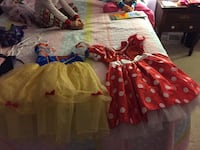 Minnie Mouse and Snow White costume size 7