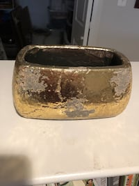 Gold Anthropologie planter/ storage/ decor  Arlington, 22201