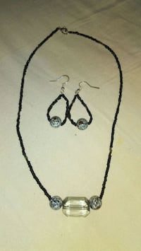silver-colored necklace and earrings Lexington, 40504