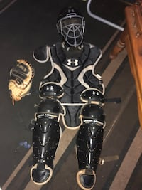 Baseball Catchers pads and baseball Cleats